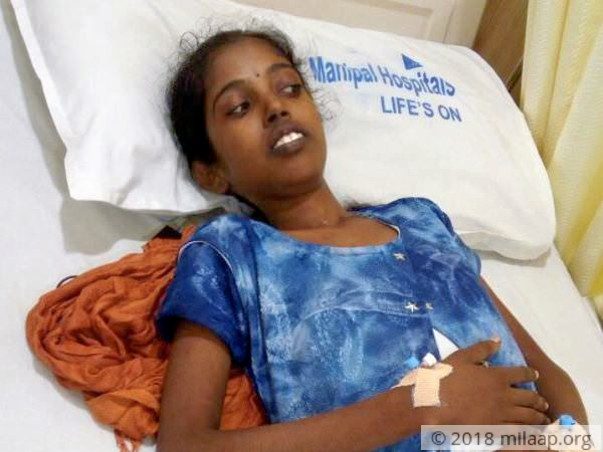 18-year-old Hampi Priya is fighting cancer for the second time