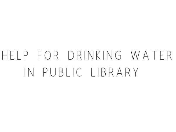Help Student Get Drinking Water In A Public Library
