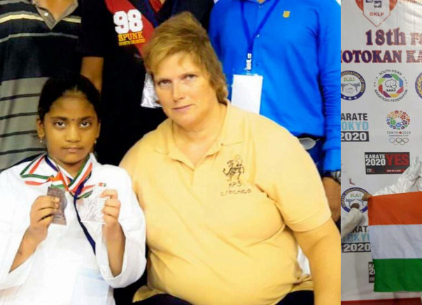 world karate champion ( 9 years Girl )