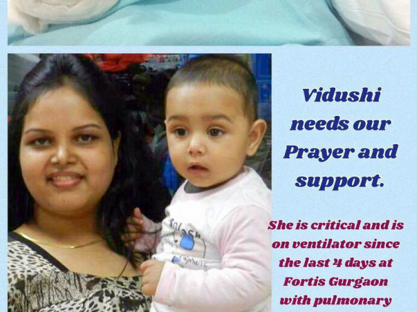 Help Vidushi survive and raise her 4 year old daughter....