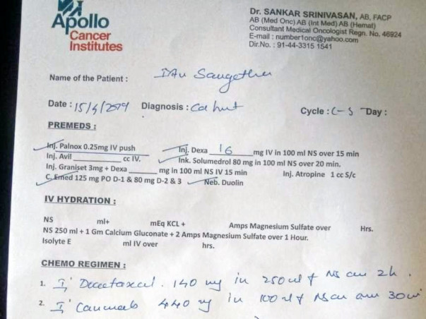 Financial Support For Sangeetha Cancer Treatment