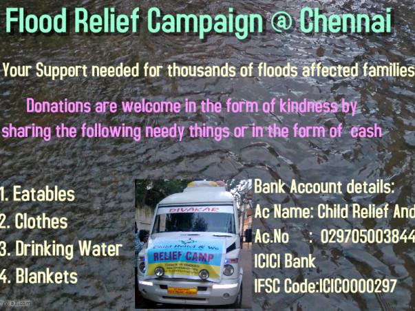 Flood Relief Campaign @ Chennai