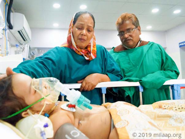 Baby of Sarwari begum needs your help to survive