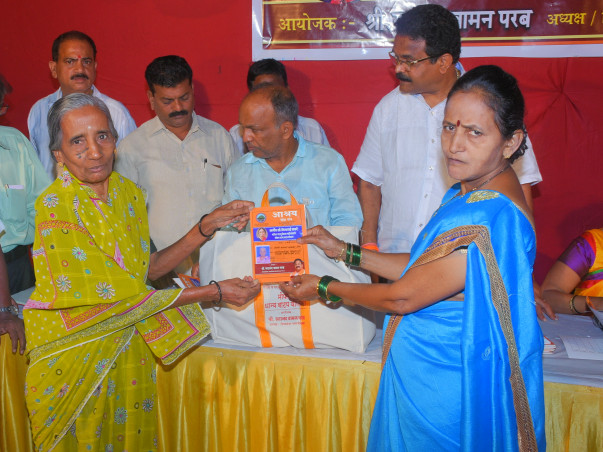 Helping Widow Women by Giving Free Food Grains