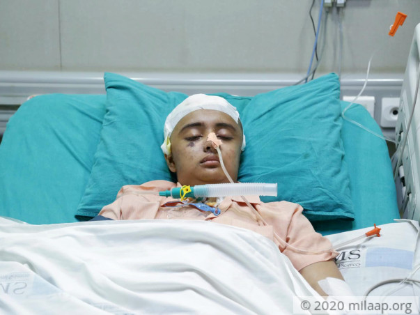 Help 23-year-old Hardika who is suffering from severe head injuries