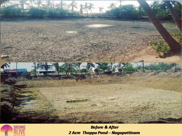 Pond Restoration in Nagapattinam ~ HelpInFarmersInterest #Hifi