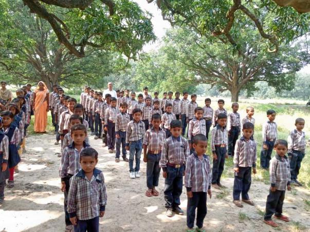 Help village children to get back school