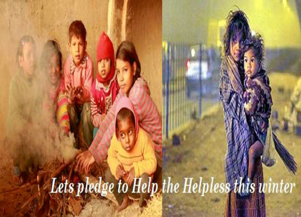 Let's pledge to Help the Helpless this winter.