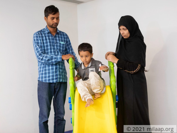 Zohaib is critical after drinking acid and needs urgent treatment