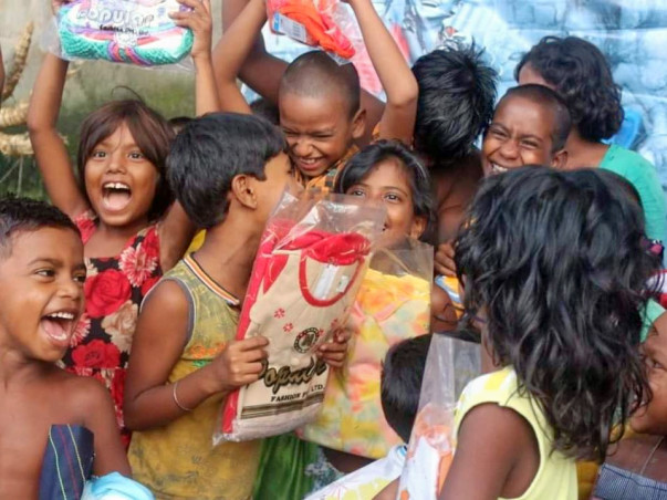 New Clothes During Puja and Diwali  for 10000  kids with sanitation