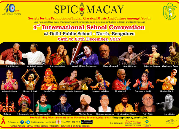 SPIC MACAY International School Convention 2017 - DPS North, Bangalore