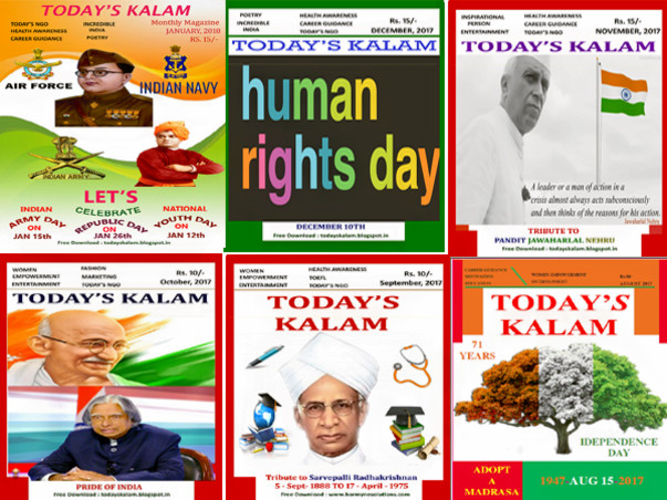 Support Magazine for NGO's and Unsung Heroes of Society