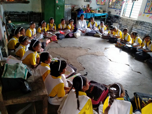 Gift the Comfort of a Bag with a Desk to Children of Gadchiroli