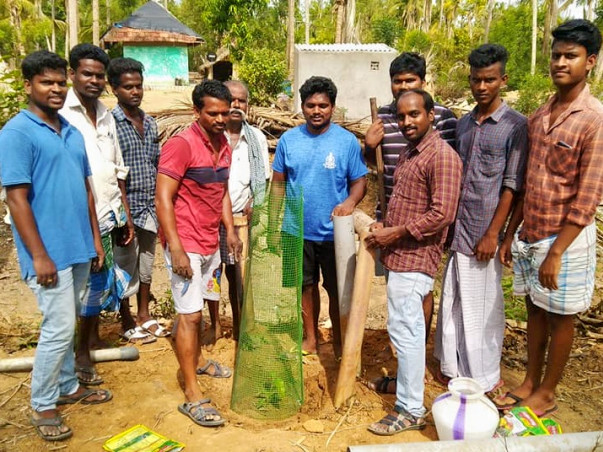 IAS Officer led Plantation Project in Gaja Cyclone Area-Mela Ottangadu