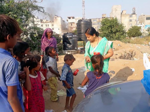 Make happy the poor and needy Children