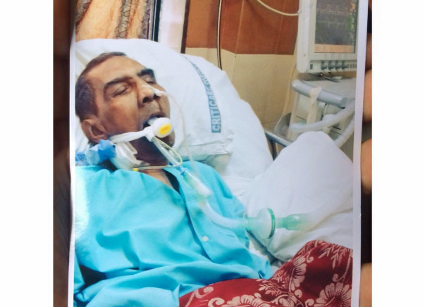 Help H. Pandya To Fight Against Last Stage of Breathing Trouble