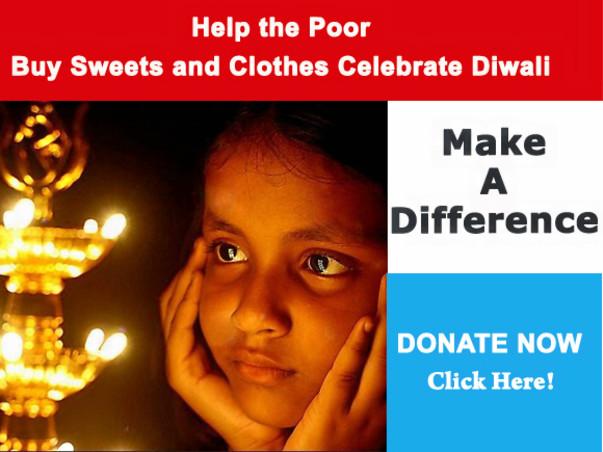 Help the underprivileged to Celebrate Diwali