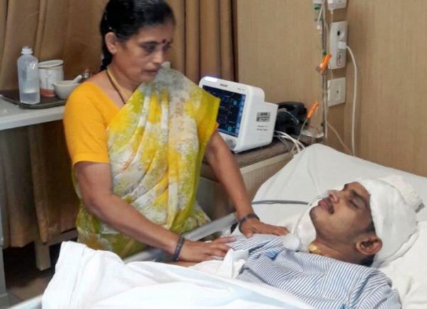 Murthy is in an unconscious state due to a severe head injury