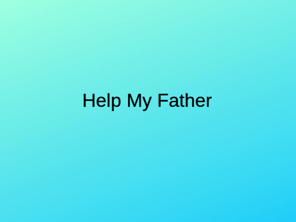 Help My Father Fight Parkinson's Disease
