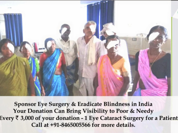 Donate (Rs. 3,000) for Social Cause: Eye Surgery & Dialysis