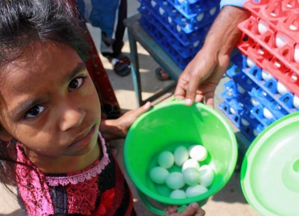 Celebrate Daan Utsav - Eggs-perience Giving .. Feed 1Lakh Children