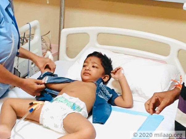 Help 3 year old baby born with one kidney undergo a surgery