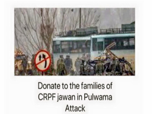 Fund Raising For Families Of CRPF Jawans, Pulwama Attack