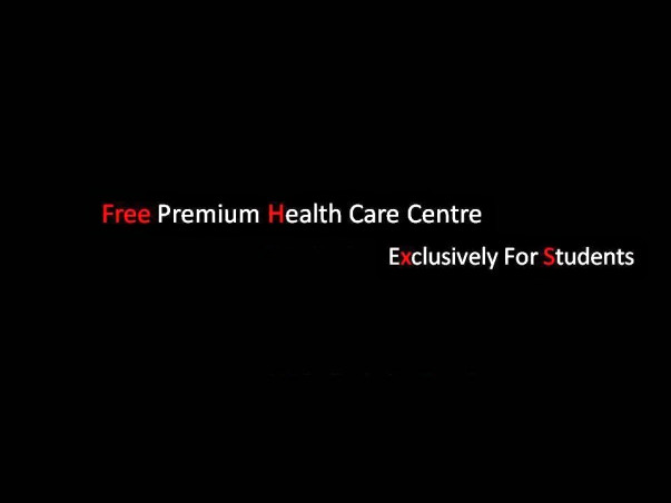 Free Premium Health Centre and Help line Exclusively for Students