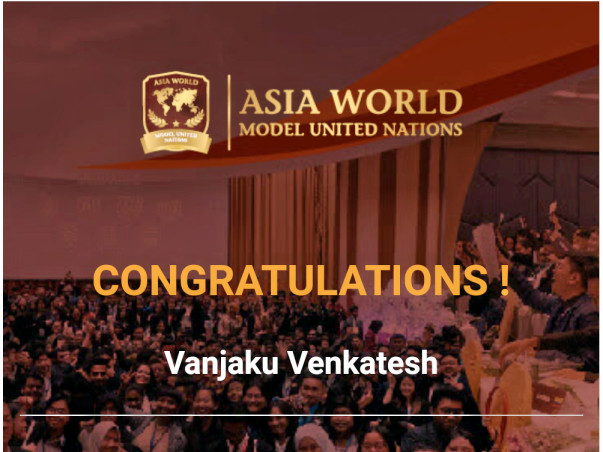 Help me to participate in Asia World Model United Nations - 2019