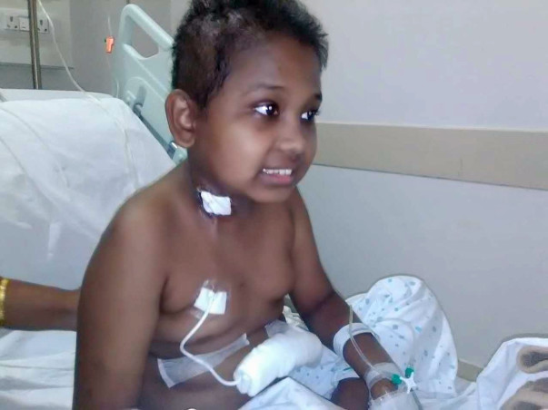 Help a small boy to fight from cancer