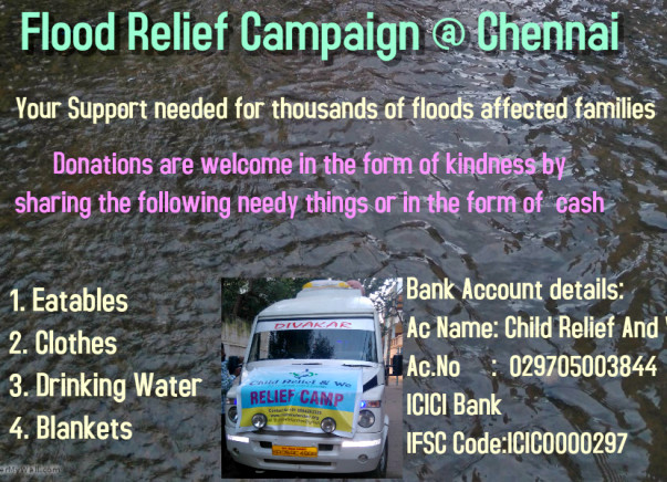 Flood Relief Campaign @ Chennai