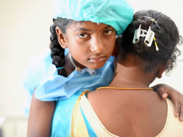 10y-oldSangeetha Has A Blocked Windpipe and She needs surgery to speak