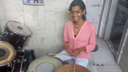 Send Sheetal from Mumbai red-light area to USA drum school