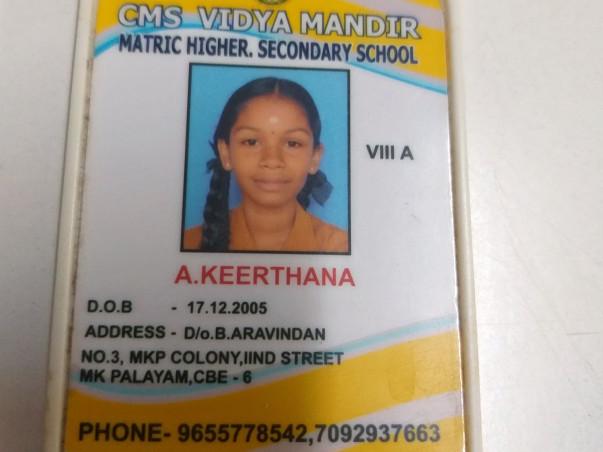 Fund Keerthana's Education