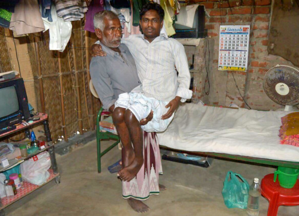 Help to Thiyagu... Affected by Rheumatoid Arthritis, he can't walk now