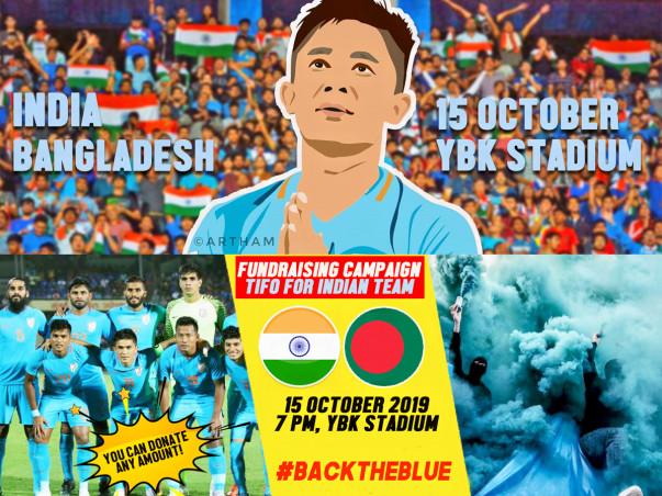 Tifo for INDIA vs BANGLADESH Match