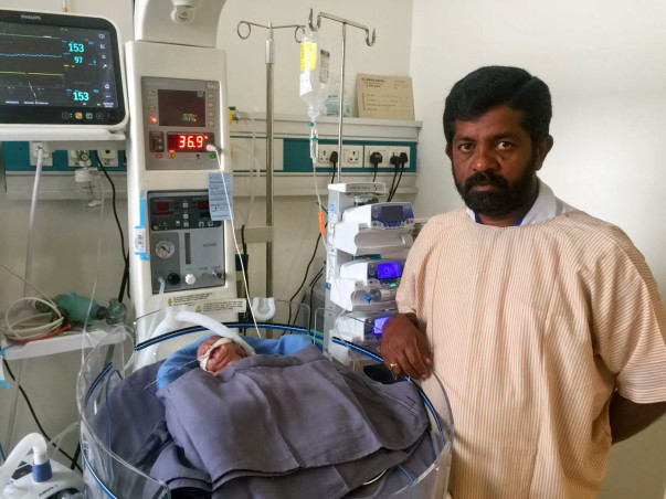 Chandrakala's new born baby in the ICU needs our help