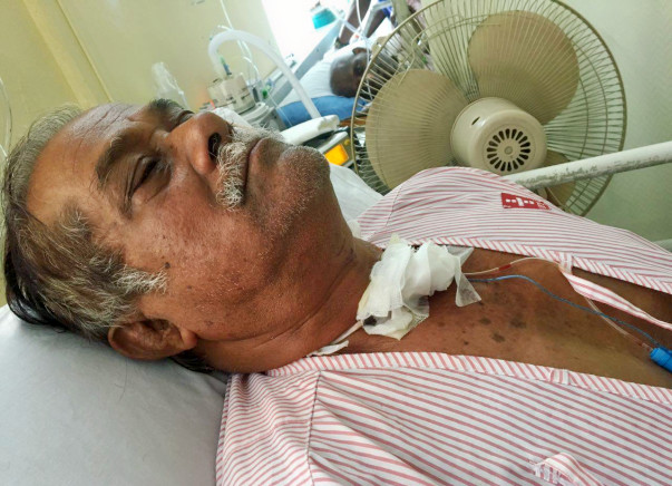 Narendra Nath Has Cancer In His Voice Box And Cannot Breathe