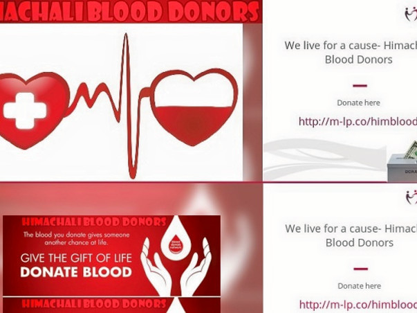 We live for a cause- Himachali Blood Donors