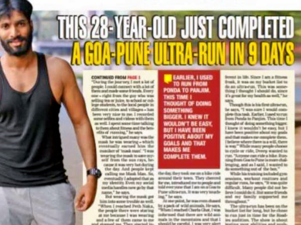 Help Dveep Run From Goa to Delhi Against Child Abuse And Rapes.