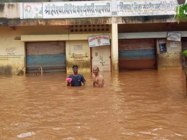 "REINFORCEMENT of flood affected""AARE"" Village in Kolhapur Maharashtra"