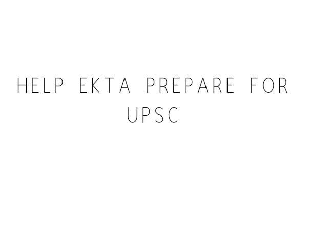 For upsc mains classes