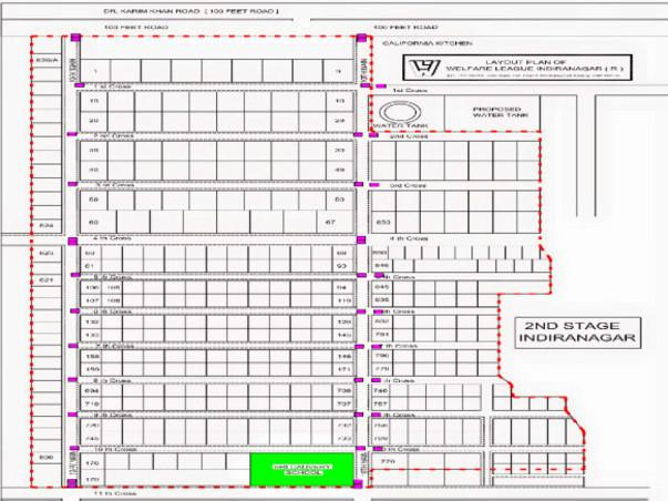 Bengaluru Marathon: Navigation Maps and Signboards, Indiranagar