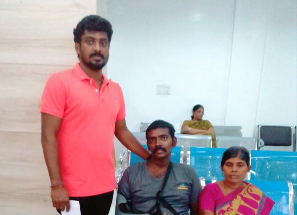 Help us save krishna vel's right hand