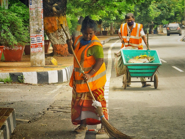 Providing COVID relief to sanitary workers and waste pickers