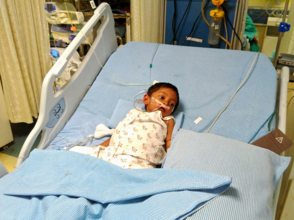Baby Akhil is in a critical condition in the ICU and needs our help
