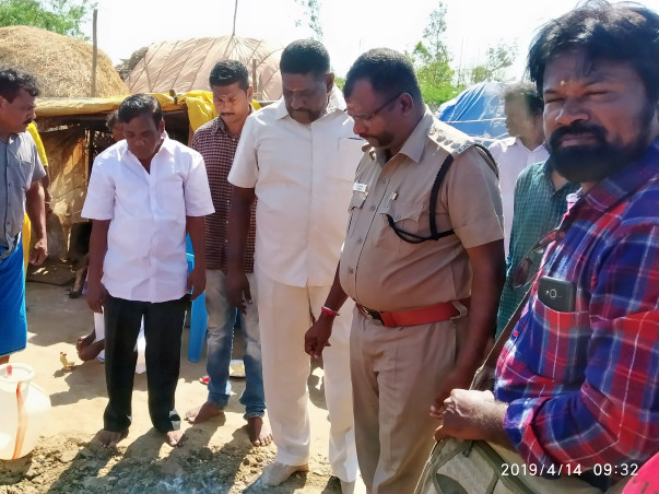 Gaja Cyclone Hit Disaster Relief House