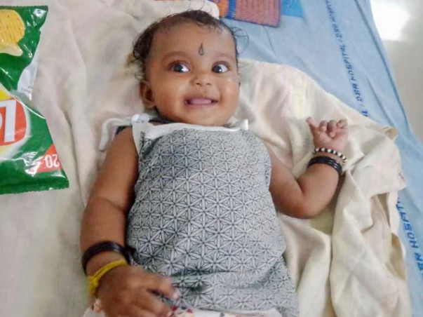 11 Months Old Lakshmi Sai  Needs Your Help In Getting A Coronary Stent