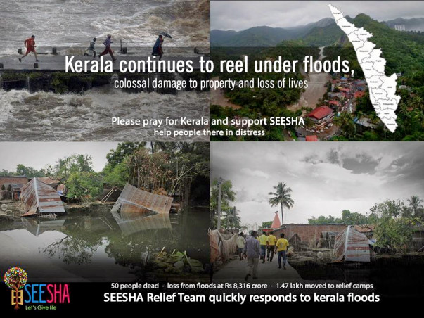 Join hands with SEESHA to support kerala flood affected people