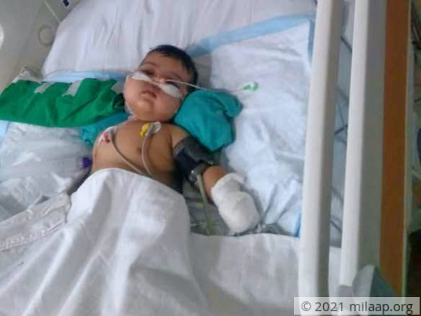 Help 7-month-old Shanaya who is in a critical state in the ICU
